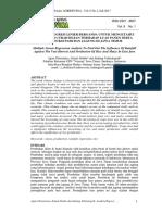 Analisis Regresi Linier Berganda Untuk Mengetahui Pengaruh Curah Hujan Terhadap Luas Panen Serta Produksi Padi Dan Jagung Di Jawa Timur