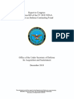 Report on Defense Contracting Fraud