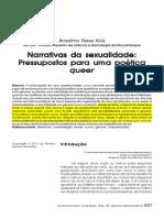 Anselmo Peres Alós - Narrativas Da Sexualidade - Pressupostos Para Uma Poética Queer