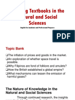 Reading Textbooks in the Natural and Social Sciences