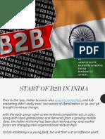 Analysis of Indian b2b Scenario
