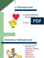 Anatomía y Fisiología Aviar