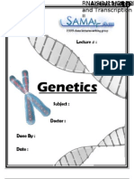 Genetics, Lecture 10 (Lecture Notes)