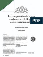 Competencias Ciudadanas en El Contexto de Bogotá
