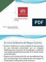 Juicio Ordinario de Mayor Cuantia (1)