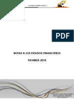 5. Notas Estados Financieros Pavimex