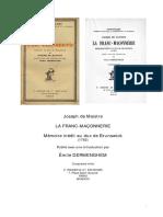 Maistre - Mémoire Au Duc de Brunswick