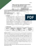 QCA141L, Practica 3 Técnicas de Purificación de Compuestos Orgánicos Destilacion Por Arrastre de Vapor, Ordoñez Saavedra Natalia, Jader Alejandro Muñoz.
