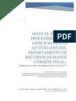 Manual Recursos Humanos Version Final EMPRESA FICTICIA
