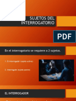 Sujetos Del Interrogatorio