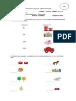 Evaluacion Lenguaje y Comunicación 1 Basico Articulos 25 de Noviembre