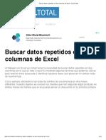 Buscar Datos Repetidos en Dos Columnas de Excel - Excel Total