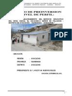 Mejoramineto y Ampliacion de Centro Educativo Ayacucho