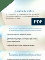 Grabación de Datos 1