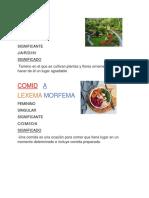 Lexema y Morfema (1)