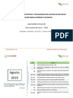 Calendario de Actividades Del Ciclo Escolar 2019 - 2020