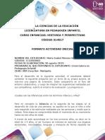 ISA... Formato Actividad Inicial Infancias 2019