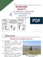 GTP_T7. Evolución (Parte 3.Especies y Especiación) 2013-15