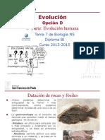 GTP_T7. Evolución (Parte 5.Evolución Humana) 2013-15