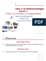 GTP_T8. Microbiología (F2 Los Microbios y El Medio Ambiente) 2013-15