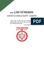 De Los Numeros Louis Claude de Saint -Ma