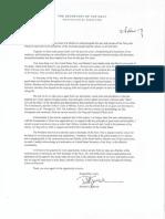 Navy Secretary Richard Spencer's Letter of Resignation