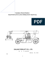 Operation and Maintenance Manual of Container Reach-stacker (3)