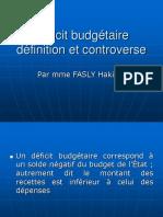 deficit budgétaire