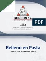 GORDON Relleno de Mina y Manejo de Relaves en Peru 2019