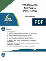 Presentación PPT - Programación Multianual Presupuestal