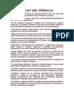 Ley Del Pendulo