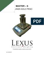 Manual Bascula Maxter s