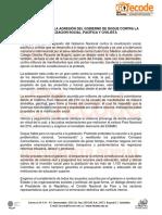 Fecode rechaza presunta agresión del Gobierno contra la movilización social