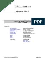 Guide Methodologique Pour l Etude 2010