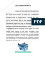 PATOLOGÍAS LISOSOMALES