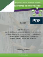 Bases III Concurso Pre y Posgrado 2019 Formateado