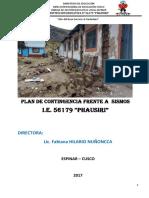 Plan Contingencia Sismo PHAUSIRI