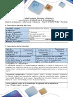 Guía de Actividades y Rúbrica de Evaluación - Fase 5-DMAMC-Medir y Analizar