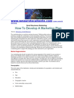 How To Develop A Small Business Marketing Plan.doc