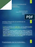 Materias Primas de Los Materiales de Construccion