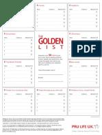 The Golden List