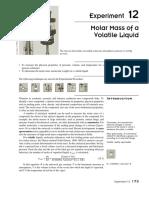 EXP 12 Molar Mass of a Volatile Liquid