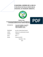 Plan de Descontaminacion de Suelo Contaminado Con Cadmio Por Actividades Agricolas en El Centro Poblado de Chaglla