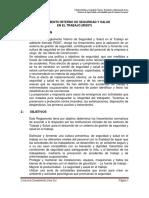 2. Reglamento Interno de Seguridad y Salud- Risst