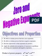 9 7zero and negative exponents