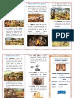 Triptico Paleolitico y Neolitico