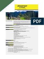 Itinerario Perú 2019