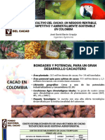 Ing. José David Barón - El Cultivo Del Cacao Un Negocio Rentable Competitivo y Ambientalmente Sostenible en Colombia 2016