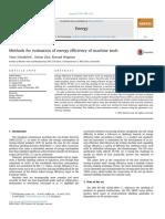 Schudeleit, Züst, Wegener - 2015 - Methods for Evaluation of Energy Efficiency of Machine Tools