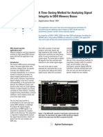 A Time-Saving Method for Analyzing Signal Integrity in DDr Memory Buses